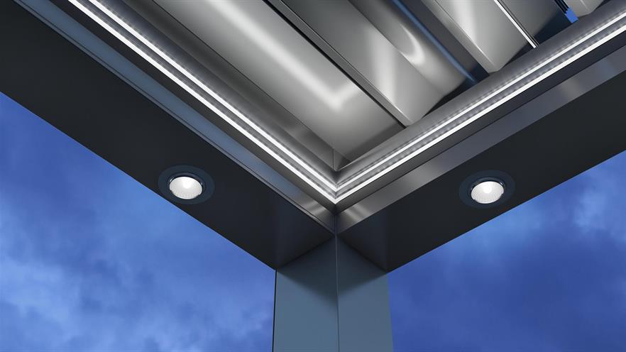 aluminium pergola detail