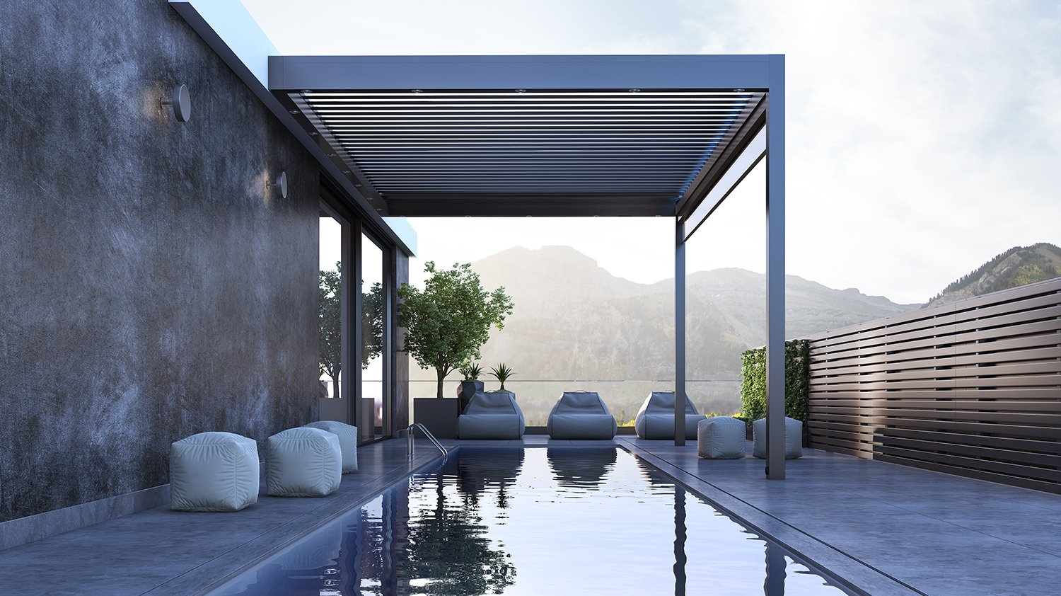 outdoor terrace covering