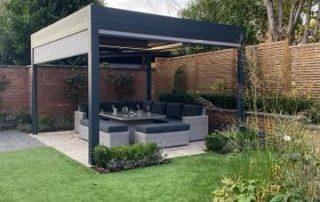 garden pergola with heating